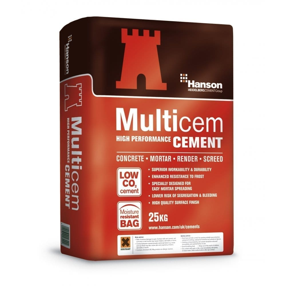 Pallet Of Cement 25kg Paper Bags Cement Aggregates