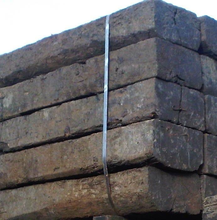 Reclaimed Sleeper Hardwood 250 x 160 x 2600mm Grade A1